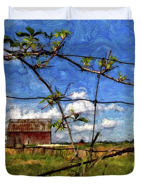 Rustic Frame Impasto Duvet Cover by Steve Harrington