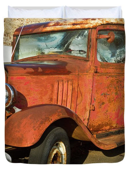Rusty Chevrolet Pickup Truck 1934 Duvet Cover by Douglas Barnett