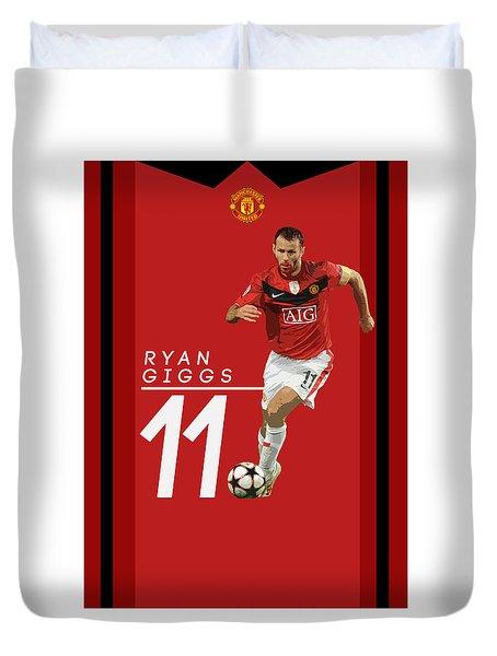 Ryan Giggs Duvet Cover by Semih Yurdabak