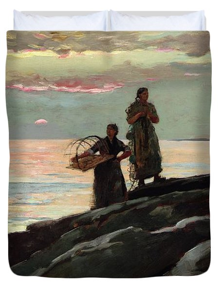 Saco Bay Duvet Cover by Winslow Homer