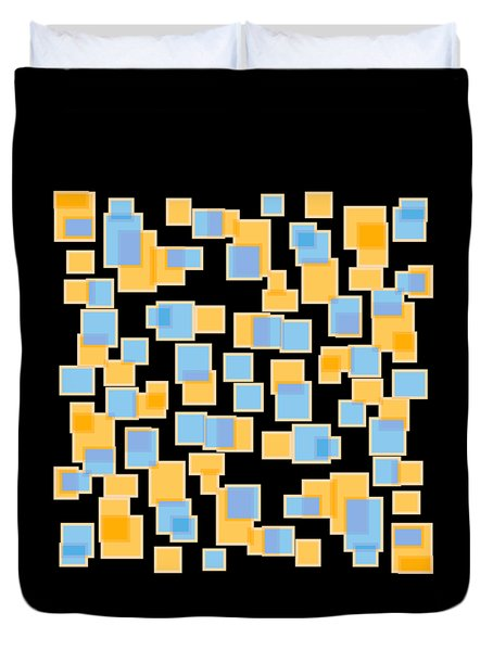 Saffron Yellow And Azure Blue Duvet Cover by Frank Tschakert