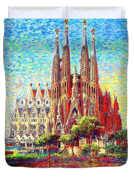 Sagrada Familia Duvet Cover by Jane Small