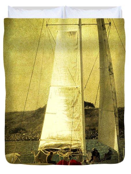 Sailing Away Duvet Cover by Susanne Van Hulst