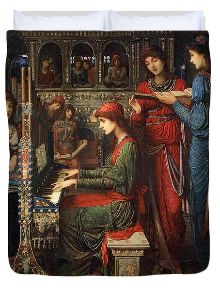 Saint Cecilia Duvet Cover by John Melhuish Strudwick