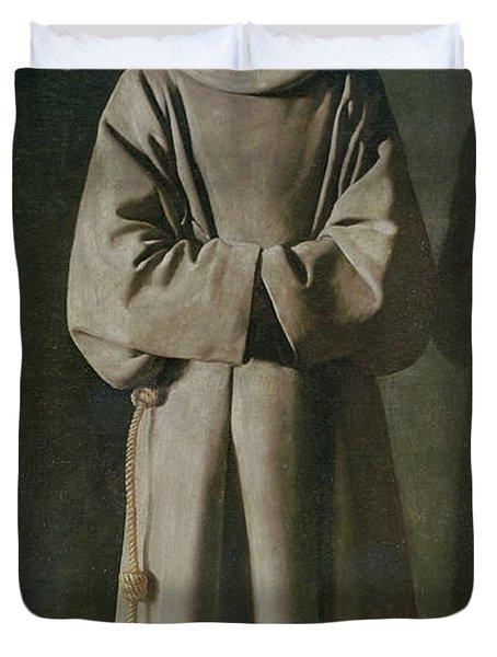 Saint Francis Duvet Cover by Francisco de Zurbaran