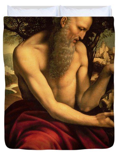 Saint Jerome Duvet Cover by Cesare de Sesto