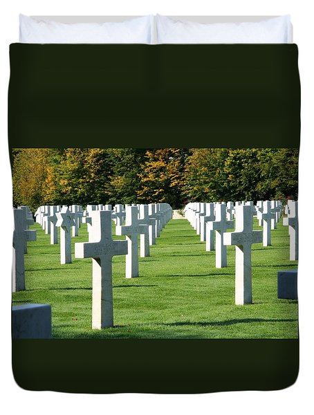 Duvet Cover featuring the photograph Saint Mihiel American Cemetery by Travel Pics