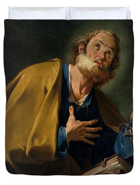 Saint Peter Duvet Cover by Giovanni Battista Pittoni