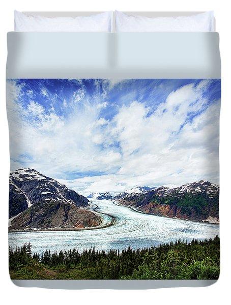 Salmon Glacier Duvet Cover by Heidi Brand