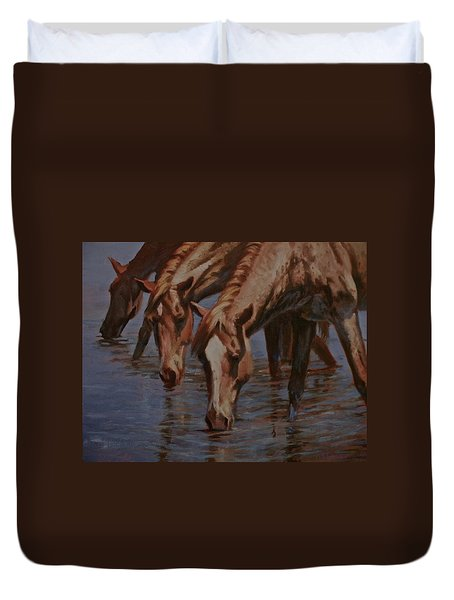 Salt River Redheads Duvet Cover by Mia DeLode