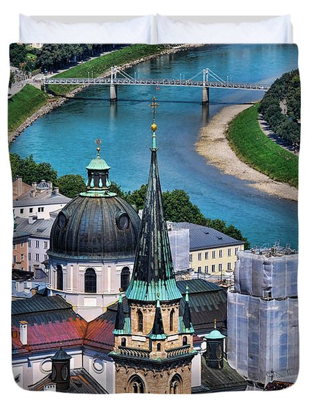Salzburg Austria Europe Duvet Cover by Sabine Jacobs