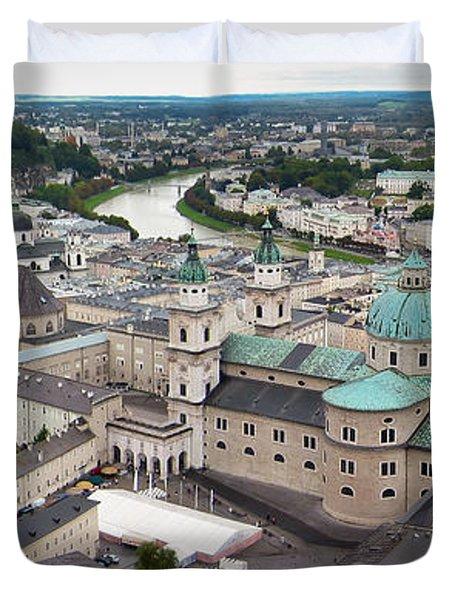 Salzburg Panoramic Duvet Cover by Adam Romanowicz