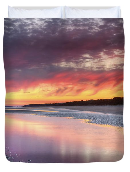 Same Night Six Fifteen Duvet Cover by Phill Doherty