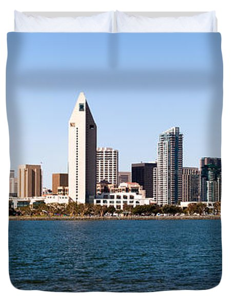 San Diego Panorama Duvet Cover by Paul Velgos