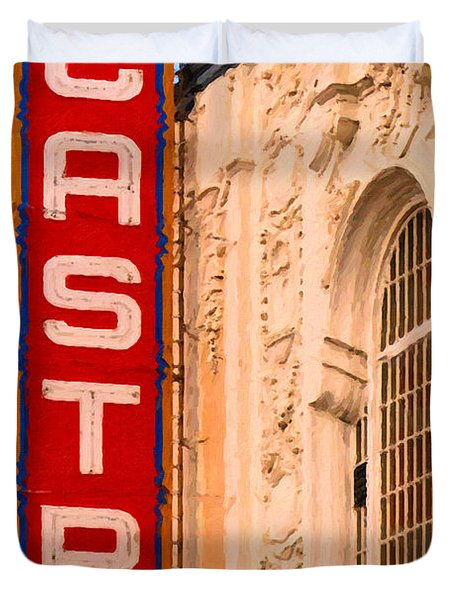 San Francisco Castro Theater Duvet Cover by Wingsdomain Art and Photography