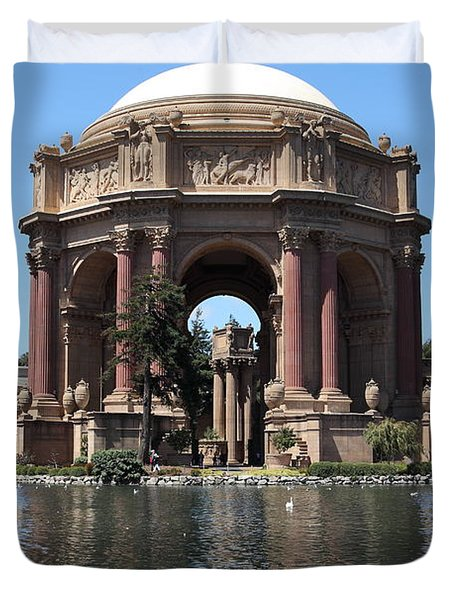 San Francisco Palace Of Fine Arts - 5d18081 Duvet Cover by Wingsdomain Art and Photography