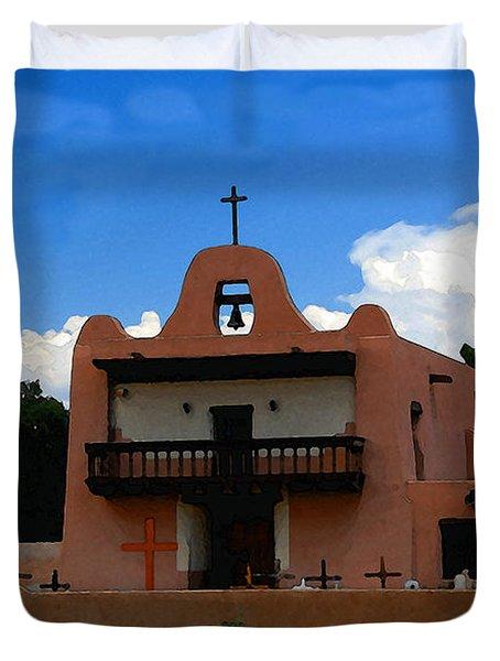 San Ildefonso Pueblo Duvet Cover by David Lee Thompson