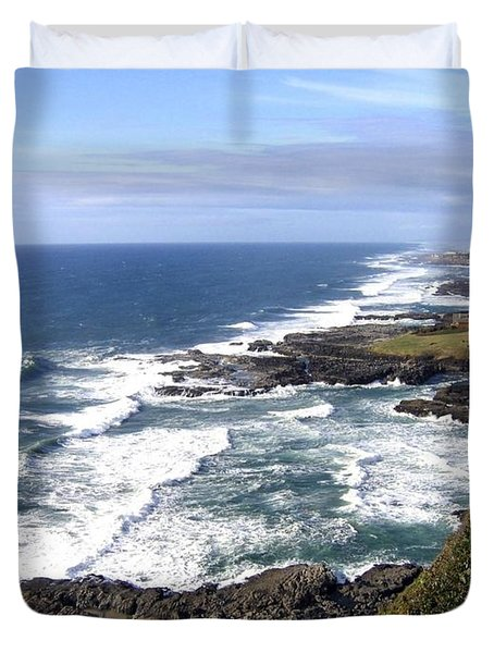 Sand And Sea 2 Duvet Cover by Will Borden