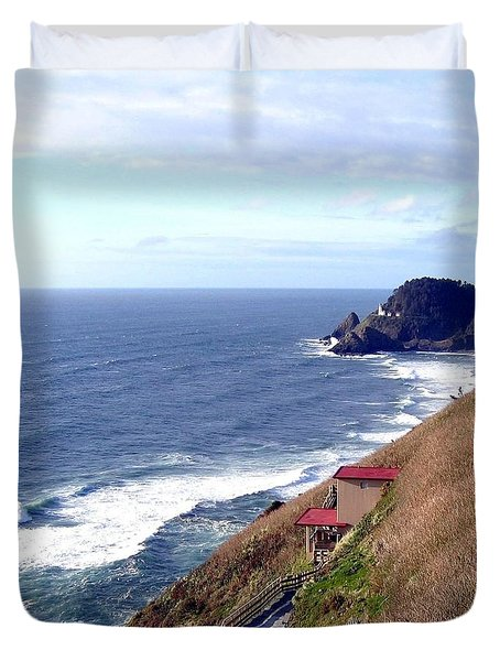 Sand And Sea 5 Duvet Cover by Will Borden