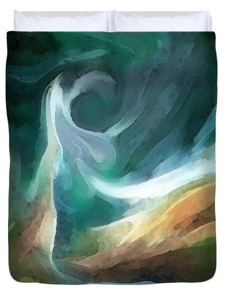 Sand And Sea Duvet Cover by Carol Cavalaris