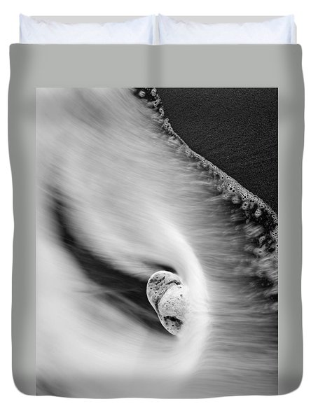 Sand and Sea Duvet Cover by Mike  Dawson