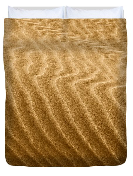 Sand Dune Mojave Desert California Duvet Cover by Christine Till