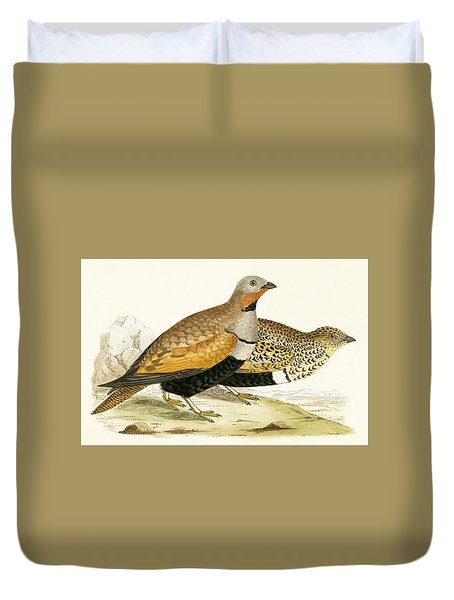 Sand Grouse Duvet Cover by English School