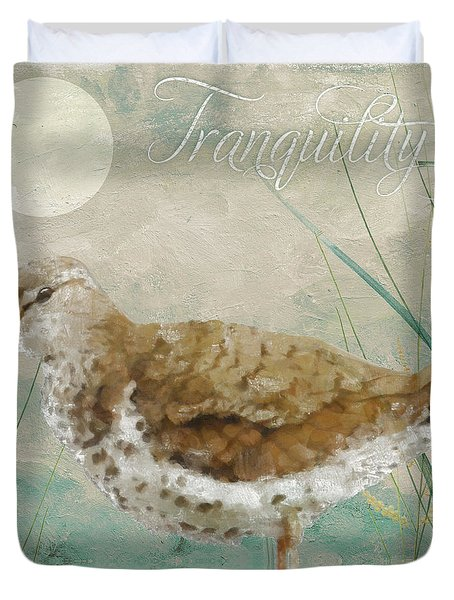 Sandpiper II Duvet Cover by Mindy Sommers