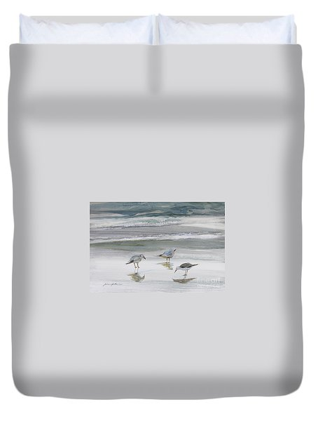 Sandpipers Duvet Cover by Julianne Felton