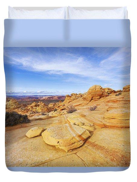 Sandstone Wonders Duvet Cover by Chad Dutson