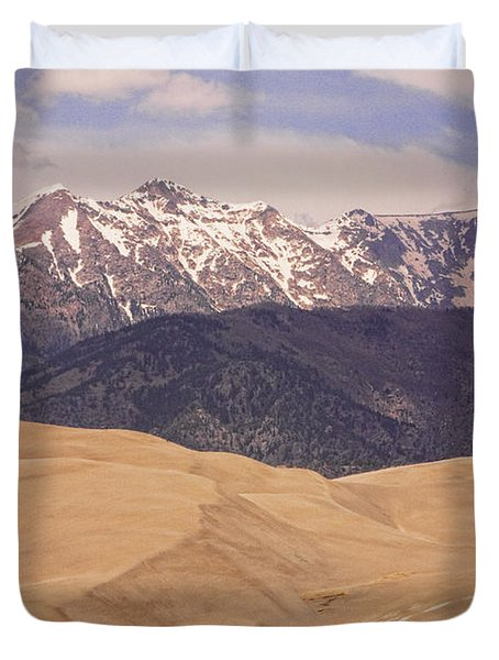 Sangre De Cristo Mountains And The Great Sand Dunes Duvet Cover by James BO  Insogna