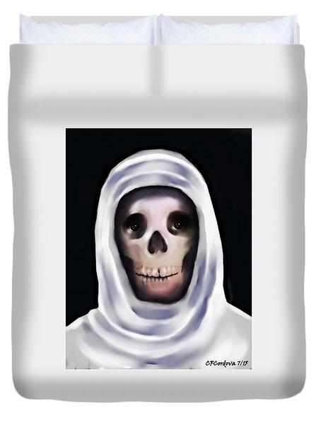 Santa Muerte Duvet Cover by Carmen Cordova