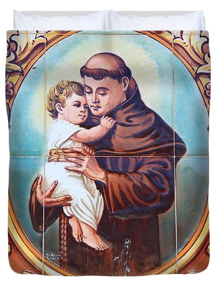 Santo Antonio de Lisboa Duvet Cover by Gaspar Avila