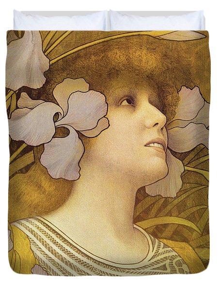 Sarah Bernhardt Duvet Cover by Paul Berthon