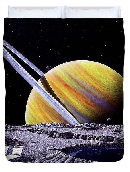 Saturn Spa Duvet Cover by Snake Jagger