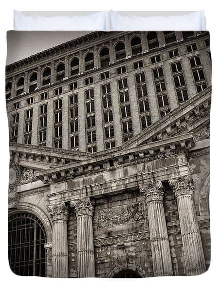 Save The Depot - Michigan Central Station Corktown - Detroit Michigan Duvet Cover by Gordon Dean II
