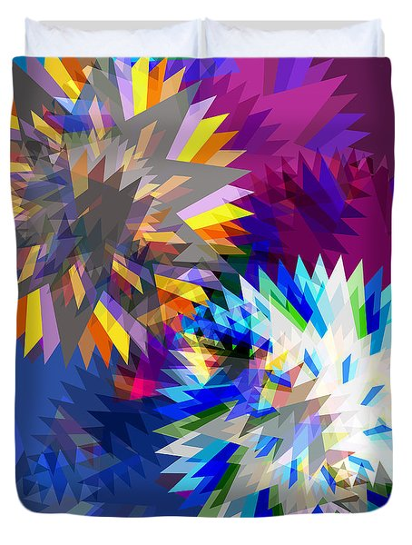 saw blade Duvet Cover by ATIKETTA SANGASAENG