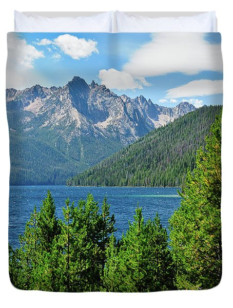 Sawtooth Serenity II Duvet Cover by Greg Norrell
