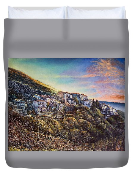 Scattered Clouds Duvet Cover by Michel Angelo Rossi