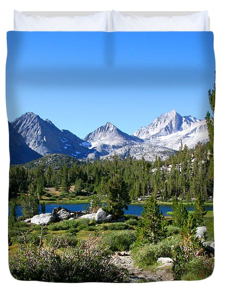 Scenic Mountain View Duvet Cover by Chris Brannen