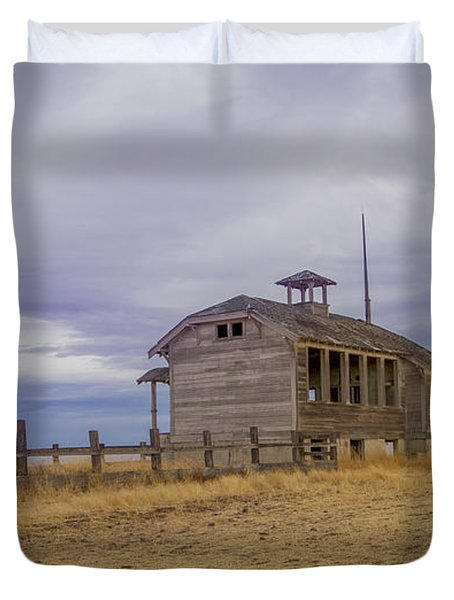 School House Duvet Cover by Jean Noren