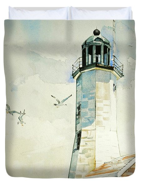 Scituate Light Duvet Cover by P Anthony Visco