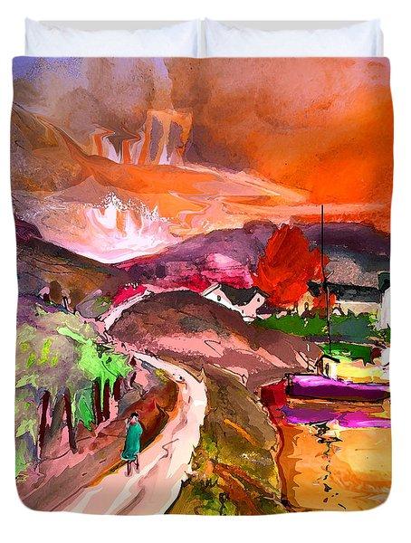 Scotland 02 Duvet Cover by Miki De Goodaboom