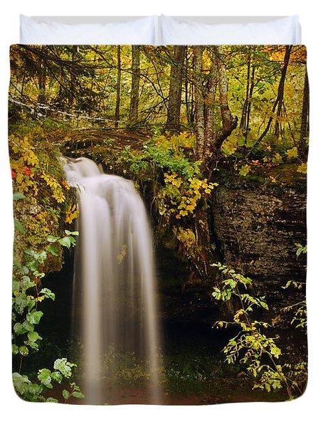 Scott Falls Duvet Cover by Michael Peychich