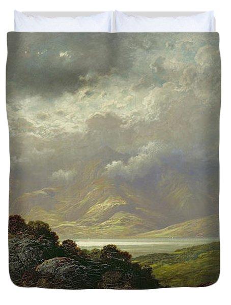 Scottish Landscape Duvet Cover by Gustave Dore