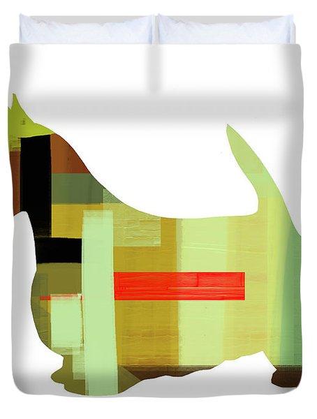 Scottish Terrier Duvet Cover by Naxart Studio