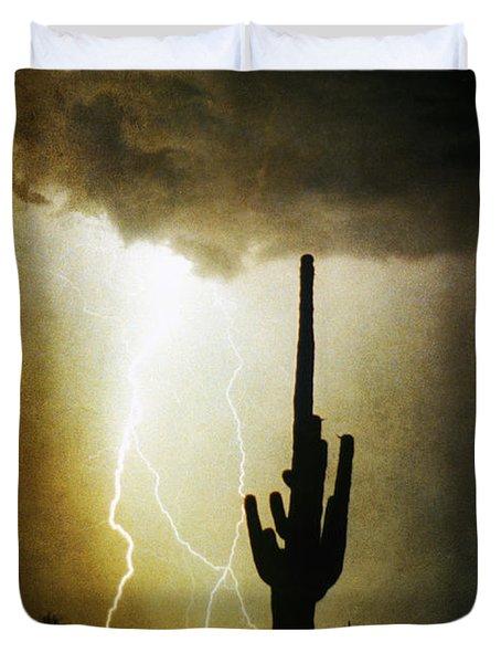Scottsdale Arizona Fine Art Lightning Photography Poster Duvet Cover by James BO  Insogna