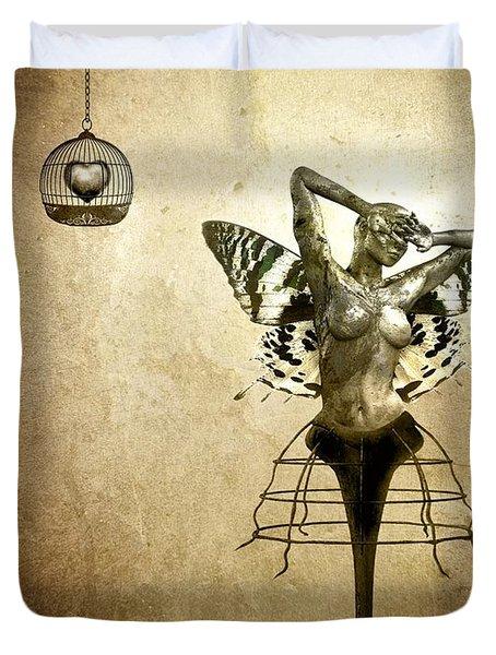 Scream Of A Butterfly Duvet Cover by Jacky Gerritsen