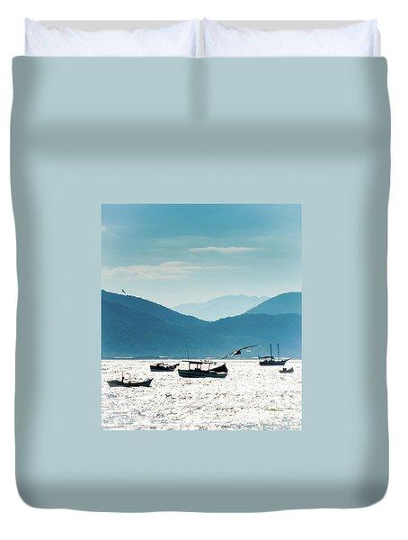 Sea And Freedom Duvet Cover by Martin Lopreiato