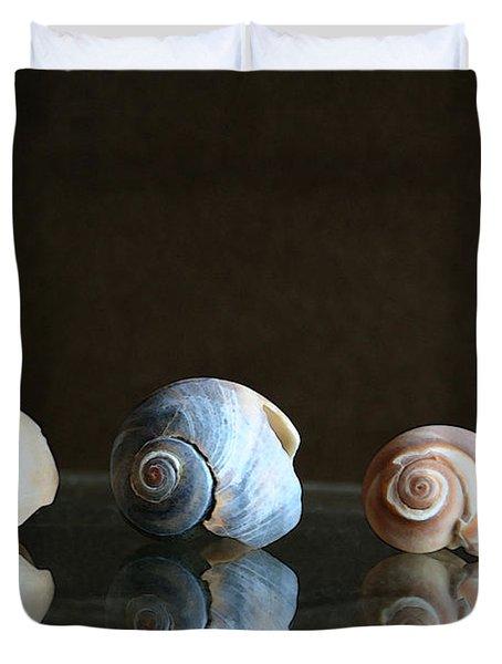 Sea Snails Duvet Cover by Linda Sannuti